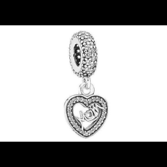67bb2b1ce Pandora Jewelry   Center Of My Heart Charm 791521cz   Poshmark